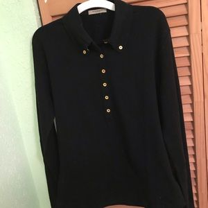 Long Sleeve Burberry Polo Shirt